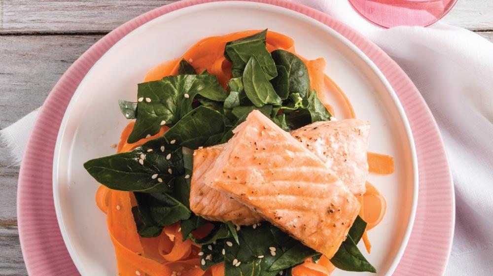 salmón horneado