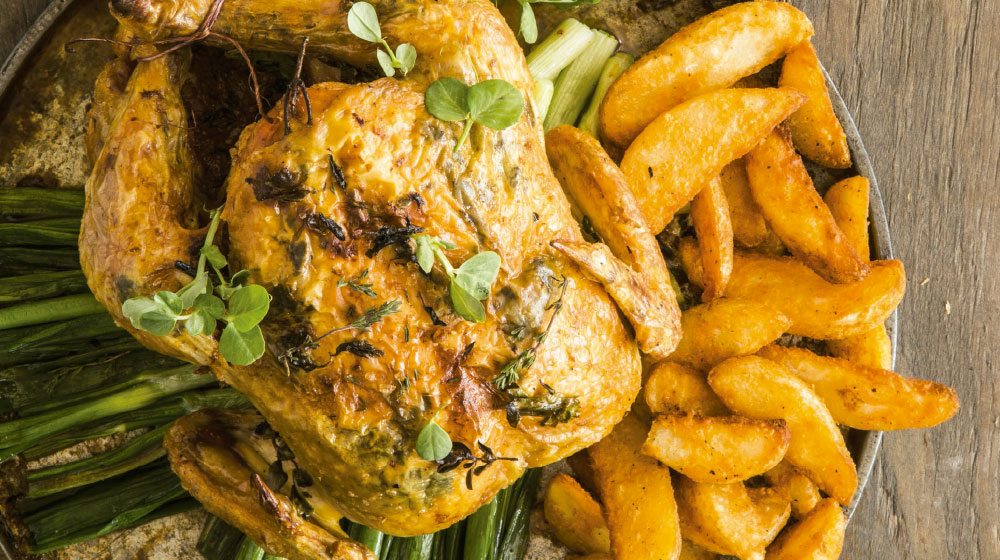 pollo a las finas hierbas