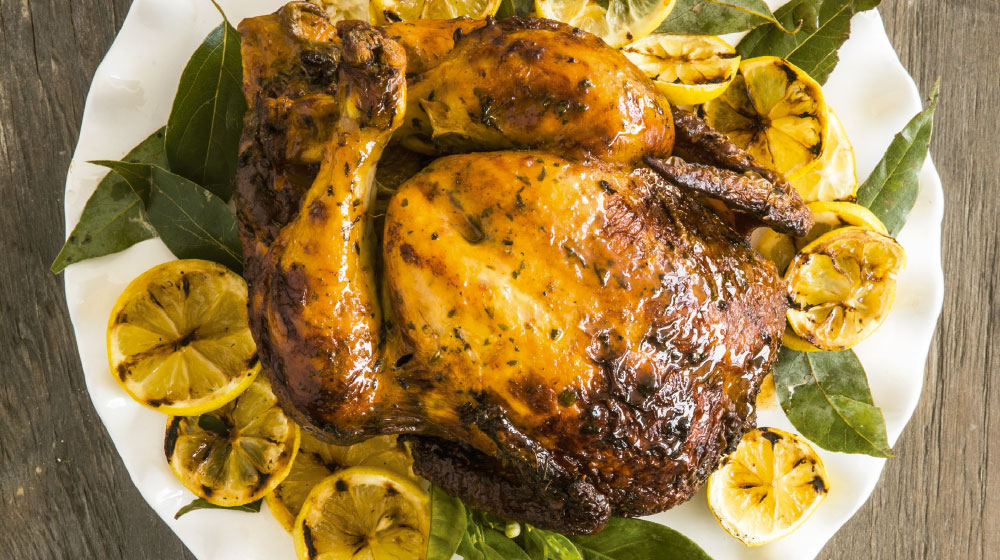 Pollo horneado al limón