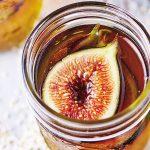Gelatina de té rojo con higos