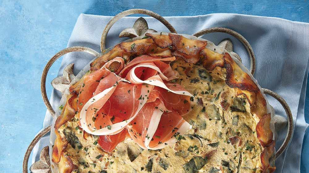Tarta de espinaca con queso ricotta
