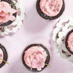cupcakes de chocolate y frambuesa
