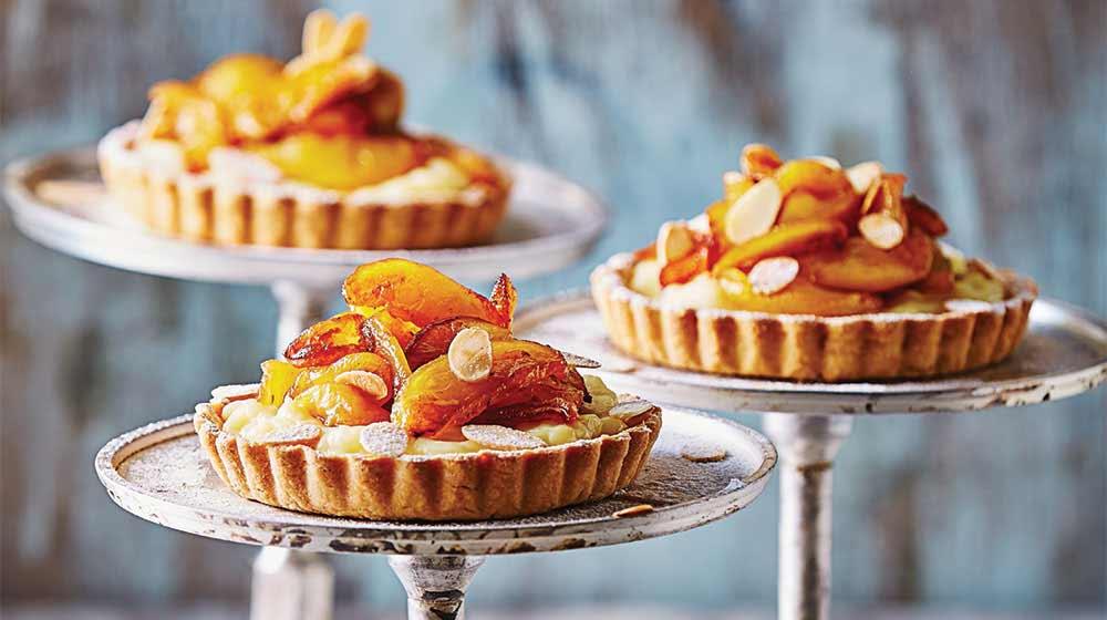 Tartaletas con manzanas caramelizadas