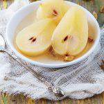 peras en almibar