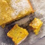 Pan de elote con naranja