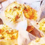 Cupcakes de papa con queso cheddar sin gluten