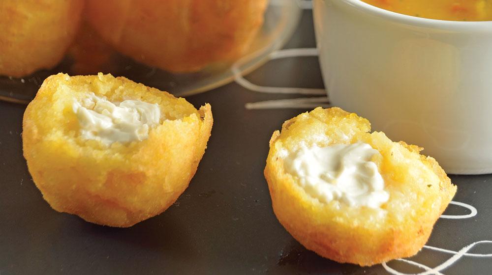 Croquetas de polenta con queso sin gluten