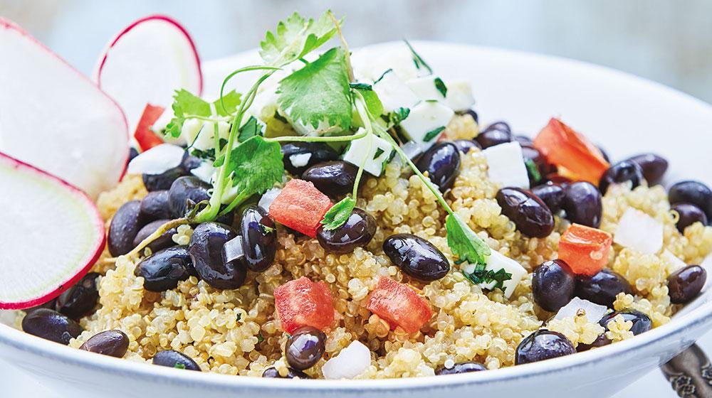 Quinoa con frijoles