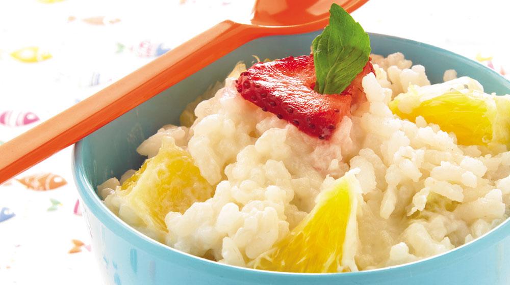 Arroz cocido con naranja y miel