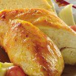 Pechuga de pollo con uvas y corazón de alcachofa