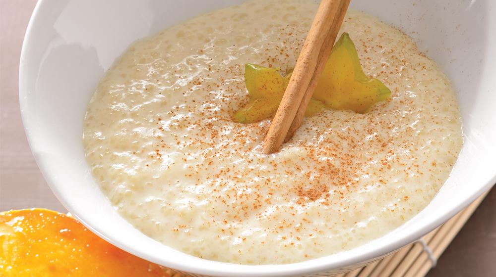 tapioca con mango asado