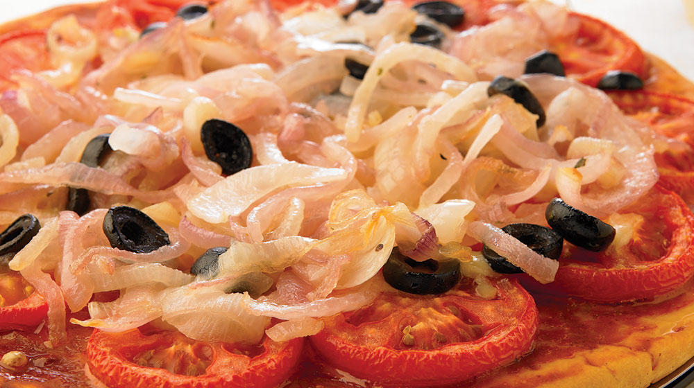 Pizza de cebollas