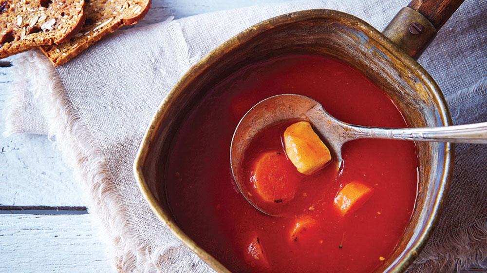 sopa de tomate rostizado