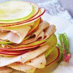 Ensalada de manzanas y pavo