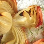Cebollas al horno con sal de grano