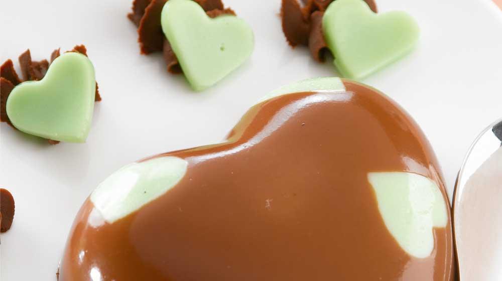 gelatina de chocolate con pistache