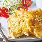 Recetas de pollo fáciles: tortitas de pollo en salsa verde