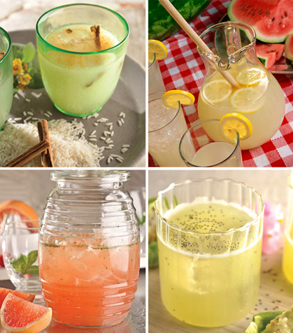6 Bebidas súper frescas