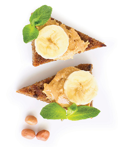 Abierto de cacahuate y plátano