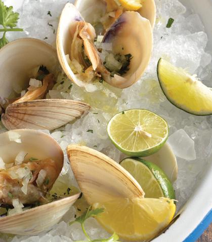 Almejas al tequila y limón