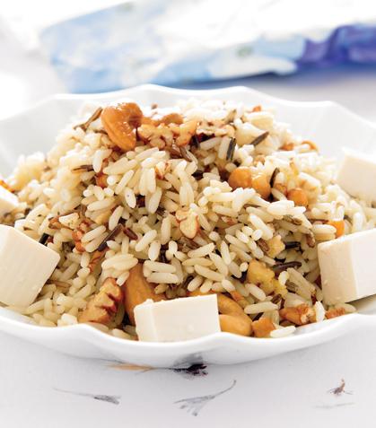 Arroz salvaje con tofu