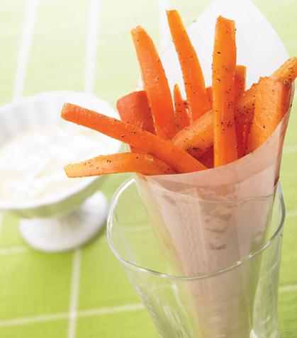 Bastones de zanahoria fritos