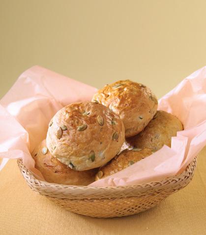 Bollos de harina integral con calabaza y miel