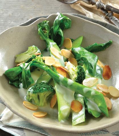 Brócoli chino en salsa de queso