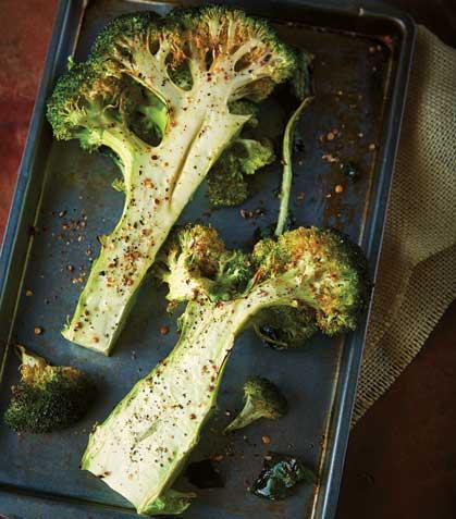 Brócoli rostizado con especias