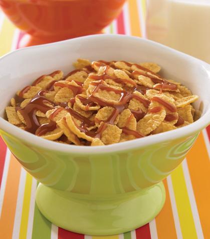 Cereal con cajeta