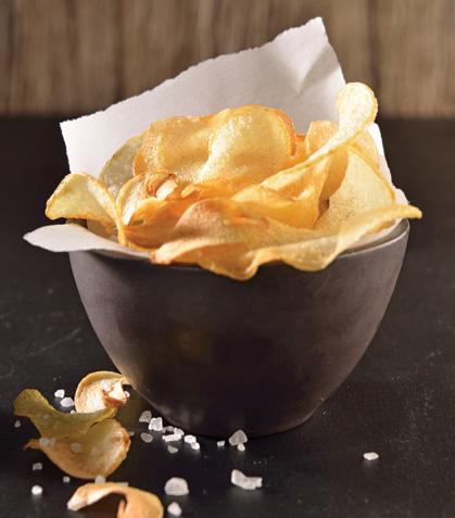 Chips de papa y ajo