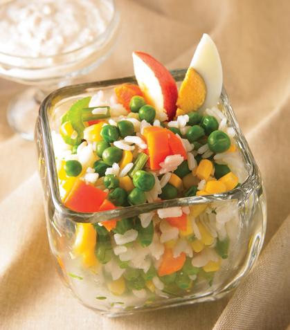 Coctel de arroz con verduras