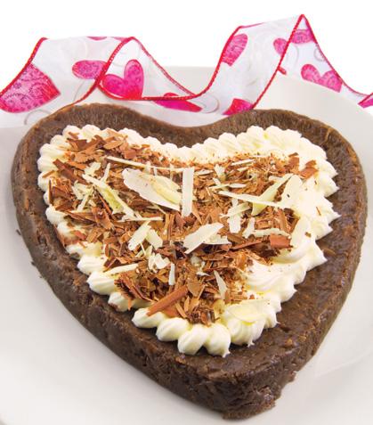 Corazón brownie