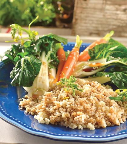 Couscous con verduras y sabores orientales
