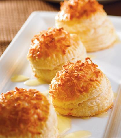 Crujientes de pistache y nuez con miel de naranja