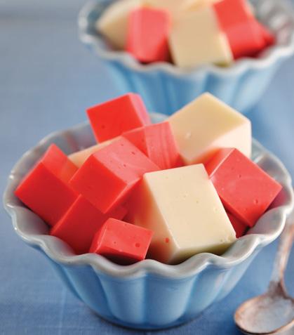 Cubitos de fresa y miel