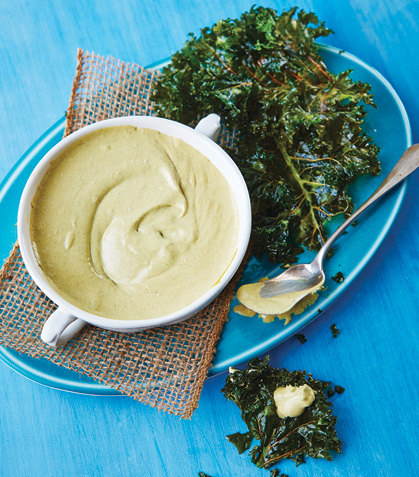 Dip de ostión con kale