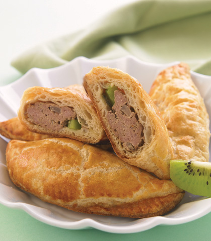 Empanadas de carne con kiwi