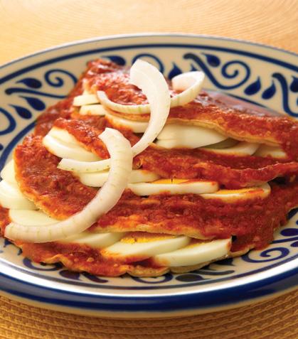 Enchiladas de huevo cocido