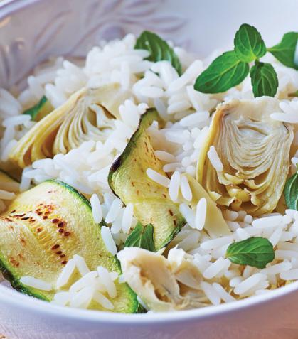 Ensalada de arroz con calabacitas