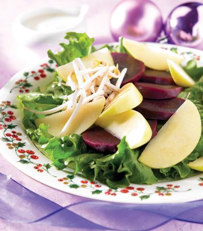 Ensalada de betabel con manzana