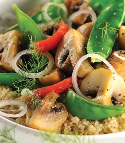 Ensalada de chícharos chinos con quinoa
