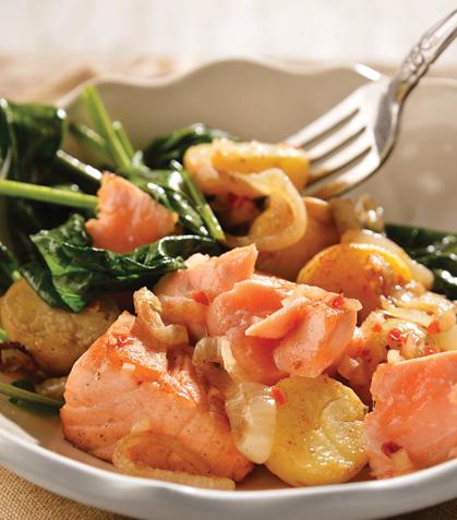Ensalada de salmón con espinaca