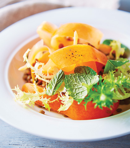 Ensalada de zanahoria con menta y vinagreta de manadrina
