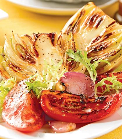 Ensalada mediterránea de verduras asadas
