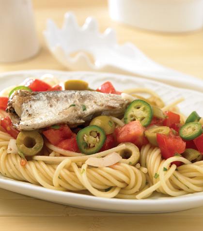 Espagueti con sardinas