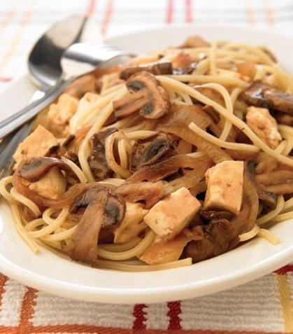 Espagueti y champiñones al jerez