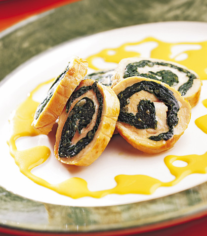 Espirales con salsa de queso