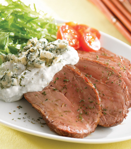 Filete con salsa de gorgonzola