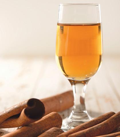 Flan de brandy con canela